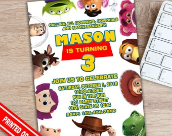 SALE 50% - Toy Story Invitation  - Toy Story Party - Toy Story Birthday - Toy Story Print