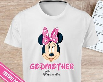 Godmother Minnie Mouse Iron On - INSTANT DOWNLOAD