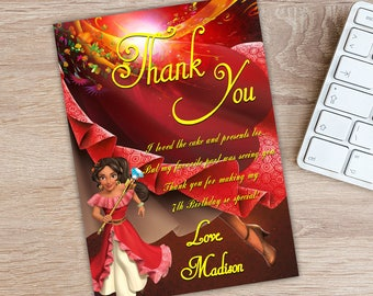 ON SALE 30%Elena of Avalor Thank You Card