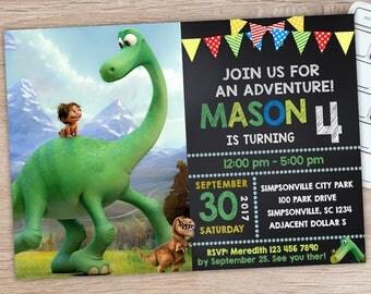ON SALE 30%The Good Dinosaur Invitation