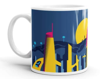Downtown Los Angeles, Landscape - Coffee Mug