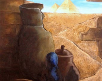 Ancient Egypt -  Oil Painting ORIGINAL