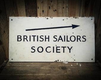 Vintage British Sailors Society Sign