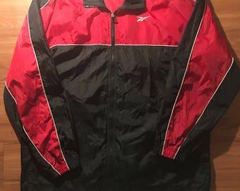Vintage 90's Reebok Windbreaker jacket Mens sz XL