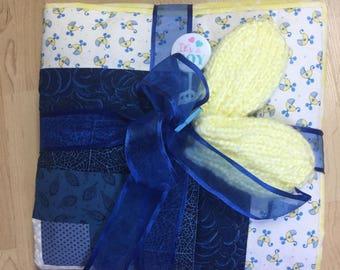 Baby boy quilt handmade