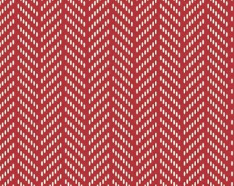 170165 Red Herringbone, Hello Jane by Allison Harris Collection