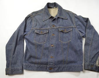 SEARS Roebucks Denim Jean Jacket Medium Made IN USA