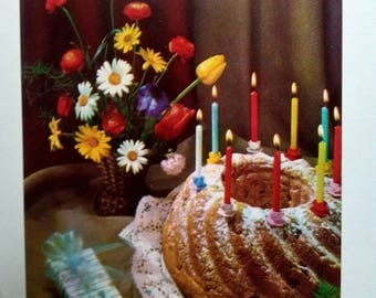 Serbia Yu Retro 70's Birthday Card Vintage Greeting Card