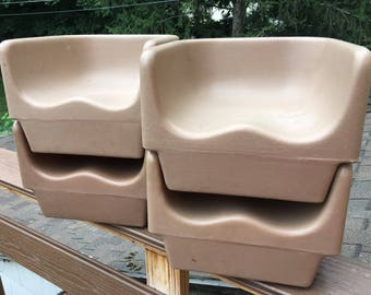 Set of 4, Vintage, Durable, Plastic, child, childrens or kids Booster Seats, restaurant style. Spray paint them and have a great new set!