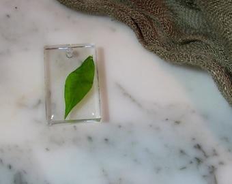 Hand Made Resin Leaf Charm