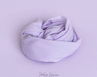 Lilac newborn photography stretch beanbag fabric / backdrop and matching wrap FREE UK POSTAGE