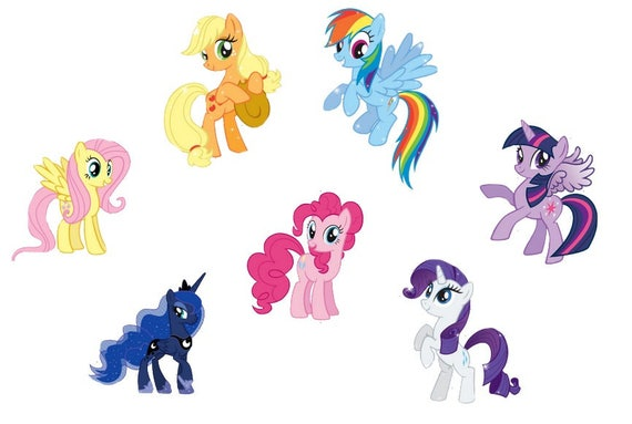 my little pony cake topper items similar to my pony cupcake toppers my 6078