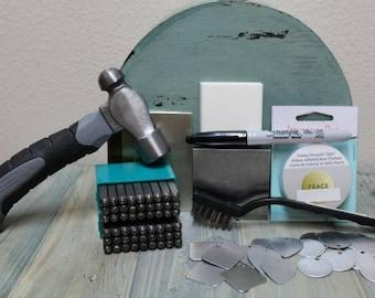 Beginner Metal Stamping Kit - Metal Stamp - Jewelry Kit - Metal Stamping - MDKit1
