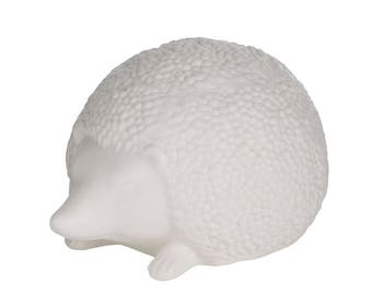 White Hedgehog Ornament Statue - Small H 11 cm