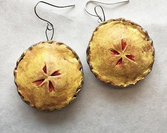 Handmade Cherry Pie Earrings