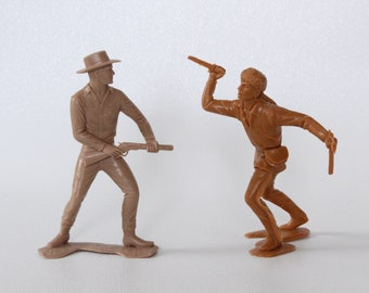Vintage MARX Toy, COWBOY and Daniel BOON figures, 1964