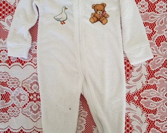Cross Stitched Baby Romper/Jumpsuit Size 0