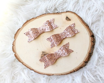 Pink and Gold Mermaid Scale Sparkle Bow