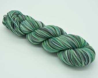 Hand dyed sport weight yarn, superwash merino wool, 300m/100g
