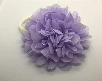 Purple flower headband, newborn headband, large flower headband, baby girl headband