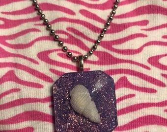 Lavender sea shell