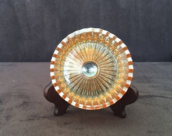 Vintage Marigold Carnival glass 1940s tray