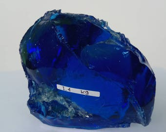 1pc blue andara crystal rough 1400 gr