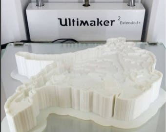 Lake Simcoe 3D Printed Depth Map