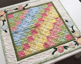 Cotton Way May Quilt Table Topper or Wall Hanging