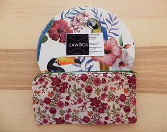 Lined zipper pouch. Botanica collection.
