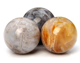 38 / 19 Pcs - 10MM Bamboo Agate Beads Grade Round Genuine Natural Gemstone Loose Beads (101199-347)