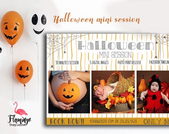 Halloween Mini Session Template - Photography Marketing Template - Photoshop Template for Photographers - Photography Template
