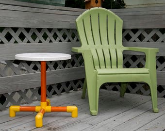 Deck furniture-side table outdoor-Patio side table-side table-beach  coffee table-out door side table-Porch decor-Outdoor patio table-
