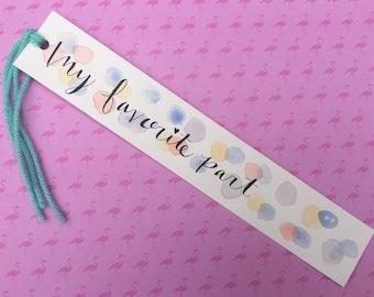 Watercolor Bookmark - Favorite Part