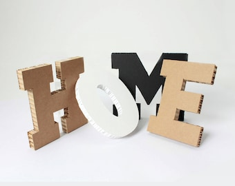 Letters honeycomb cardboard for industrial design wall decoration