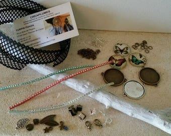 Kit 3 Creating bracelets lace Butterfly with instructions. Novelty