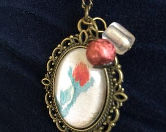 Vintage Single Rose Pendant