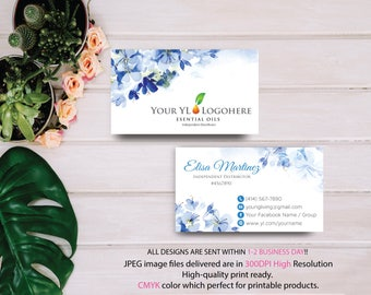 YL Business Card, Custom YL Card, Fast Free Personalization, Essential Oil Business Card, Printable Business Card YL40