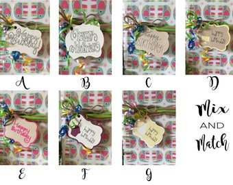 Assorted Birthday Gift Tags, Birthday Gift Tags, Gift Tags, Birthday, Happy Birthday, Gift Label