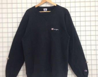 Vintage Champion Sweatshirt Small Logo Embroidery Nice Design