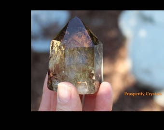 Genuine Smokey Quartz Point Crystal with Phantom