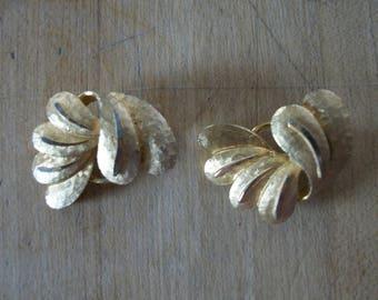 Vintage Goldtone earrings marked BSK