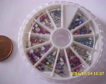 1 carousselle rhinestone acrylic 2X2mm/4X2mm nails decoration