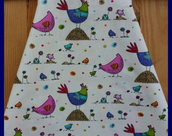 """My hens multicolored"" apron for children 6 to 10 years"