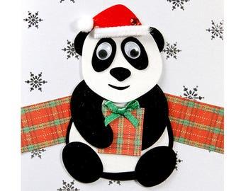 Christmas card / new year's Eve Panda Nicolas