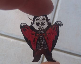 Earrings vampire and bat mouse