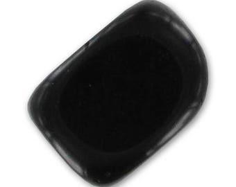 Black Onyx: 3 black beads 19 mm * 12 mm