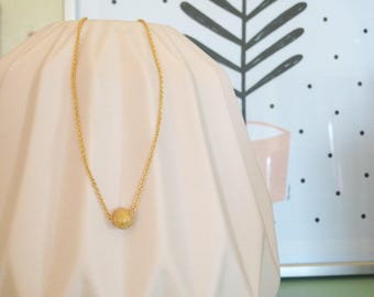"""Necklace """"Zénith"""" plated gold"""