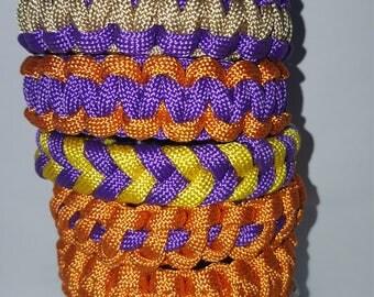 Set of 8 paracord survival bracelets