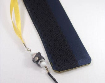 Clearance price tag 5 euro. Bookmark satin and pearls.